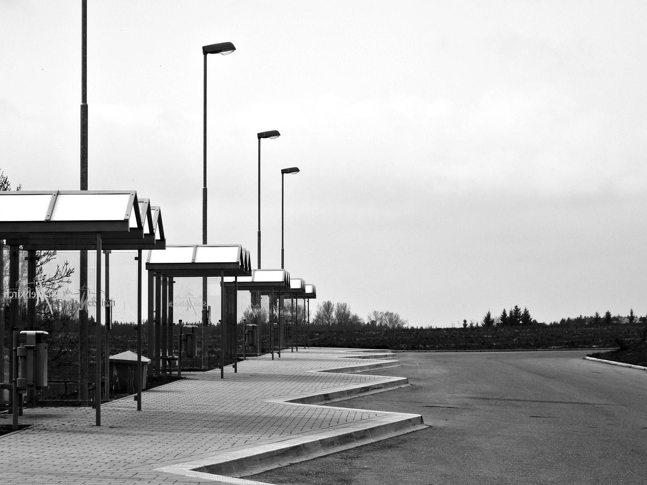 Gare routière vide