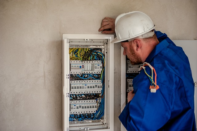 Maintenance électrique effectuée par un électricien