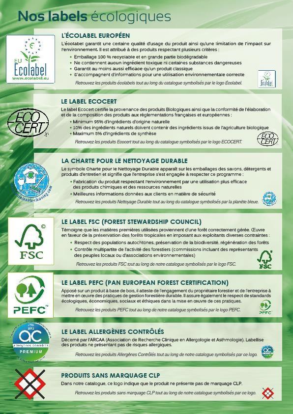 Nos labels écologiques