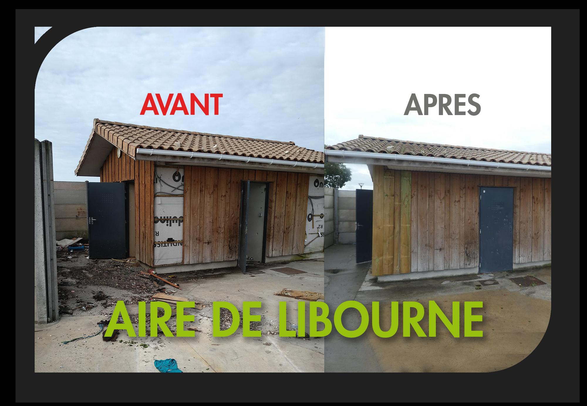 Libourne : avant / après du chantier de rénovation d'un emplacement